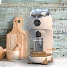 1 قطعة 1 زر صغير المهنية الكهربائية المخروطية لدغ القهوة طاحونة سبائك الألومنيوم الجسم مباشرة طحن القهوة مسحوق تصميم