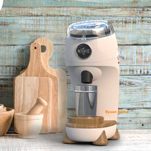 1 PC 1 MINI Professional เครื่องบดกาแฟ Conical Burr อลูมิเนียมอัลลอยด์ Direct บดผงกาแฟออกแบบ