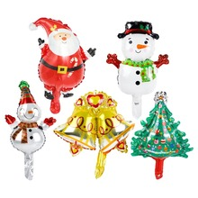 Santa Claus Christmas Balloons Merry Decoration For Home Ornaments Accessories Children New Year Gift