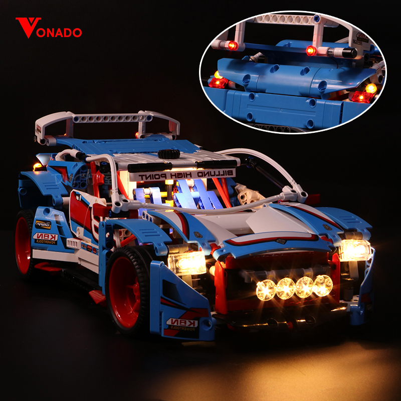 Vonado Led Light For Lego Rally Racing Machinery Group 42077 race Car Building Blocks Toys Gifts(only light+Battery box)
