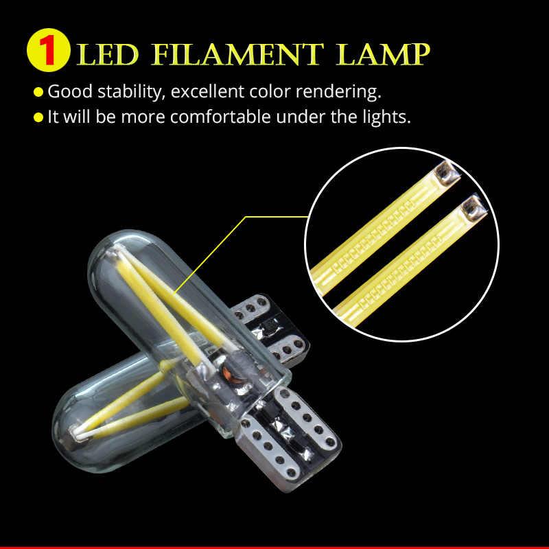 NAO W5W светодиодный фонарь T10 светодиодный drl автомобильный внутренний свет SMD 194 168 COB стекло авто лампа накаливания 12 В красный белый желтый кристалл Синий Новый
