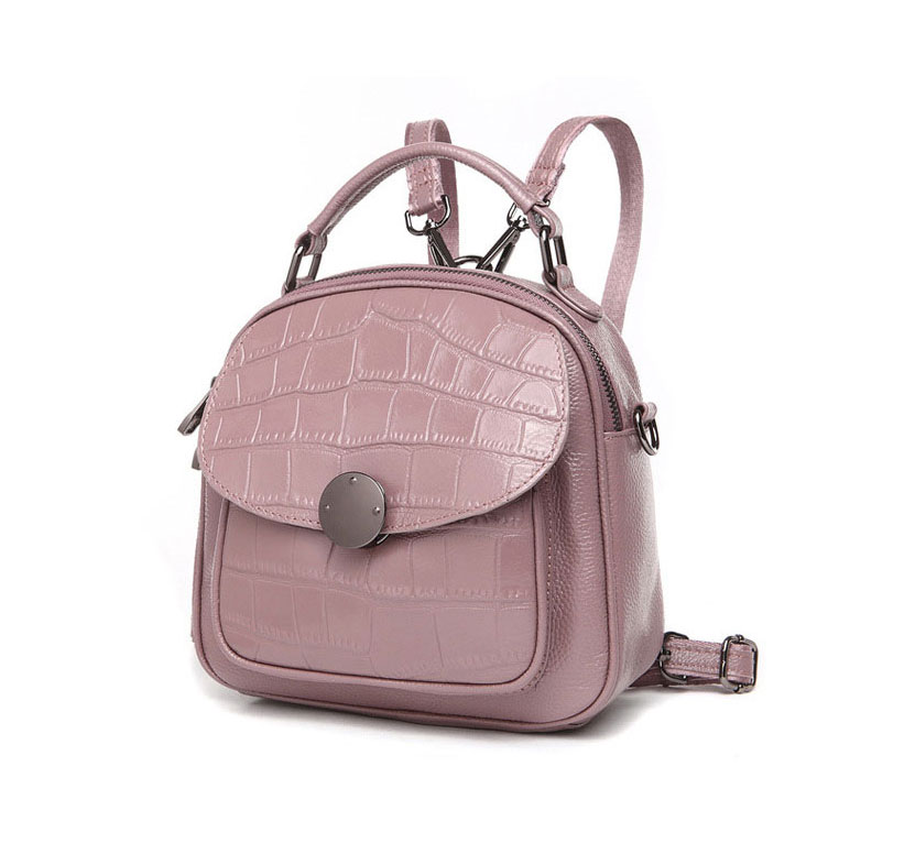 Casual Backpack Natural Soft Real Genuine Leather Backpacks Leather Top Layer Cowhide Women Mini Backpack woman School Bags
