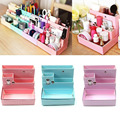 DIY Paper Board Storage Boxes New Fashion Desk Decor Stationery Korean Style Makeup Cosmetic Organizers