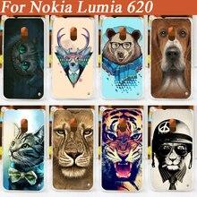 11 моделей hard plastic cell phone case для nokia lumia 620 задняя крышка Бесплатная Доставка
