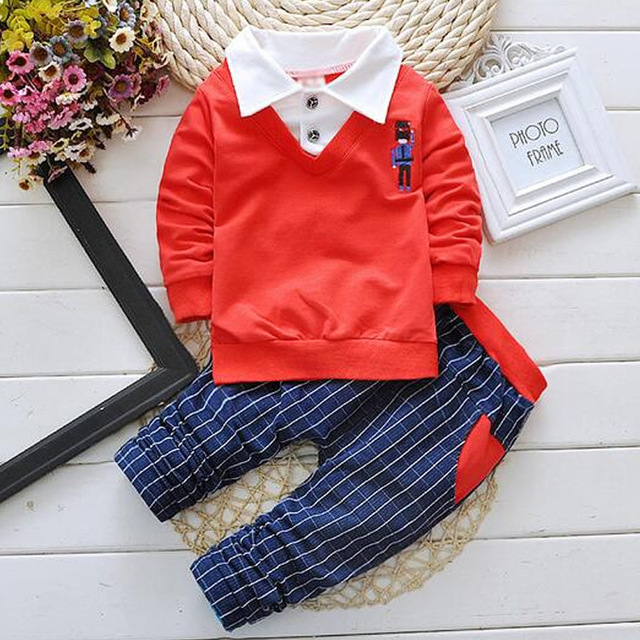 Gentleman Baby Boy Clothes 2016 Fashion Clothing Set For Newborn Baby Kids Long Sleeve T Shirt+Pant sweat suit