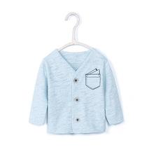 Vlinder Baby płaszcz noworodka kurtka dla dzieci jak kurtka dla dzieci chłopcy odzież wierzchnia przytulny bawełna płaszcz niemowląt stałe z długim rękawem dla dzieci odzież wierzchnia tanie tanio Kurtki płaszcze COTTON Anglia styl Boys baby Pełna V-neck REGULAR AW18-0116 Pasuje prawda na wymiar weź swój normalny rozmiar