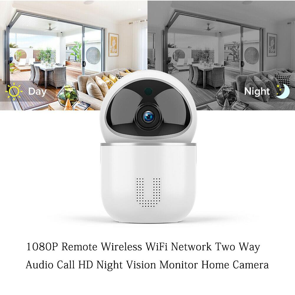 Home Camera Monitor Wifi-Network Remote Night-Vision HD 1080P Wireless Two-Way Audio-Call