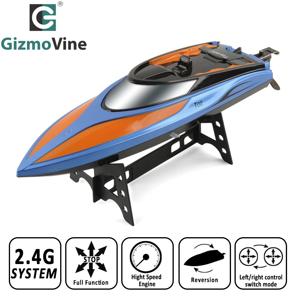 High Speed RC Boat T02 2 4GHz 4 Channel 30km h Racing Remote Control Boat with