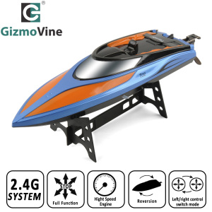 High Speed RC Boat T02 2.4GHz 4 Channel 30km/h Racing Remote Control Boat with LCD Screen For Children Toys Kids