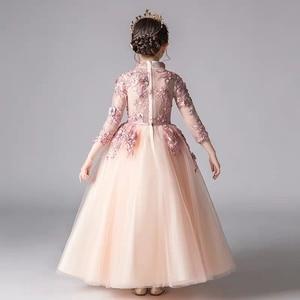 Image 2 - אביב יוקרה חדש אפליקציות עבודת יד פרחי בנות ילדי חתונה יום הולדת המפלגה טול שמלת ילד בני נוער מארח טוטו שמלת בגדים