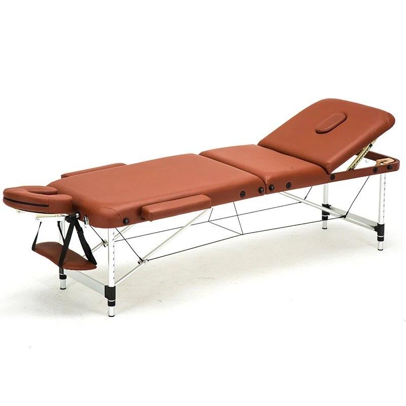 186cm*60cm Spa Tattoo Body Beauty Furniture Portable Folding Massage Bed Salon Facial Aluminum Alloy Adjustable Massage Table