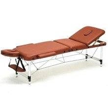 186 см* 60 см спа татуировки тела красивая мебель Портативная Складная кушетка для массажа кисточка для бритья Алюминий сплава Регулируемый массажный стол