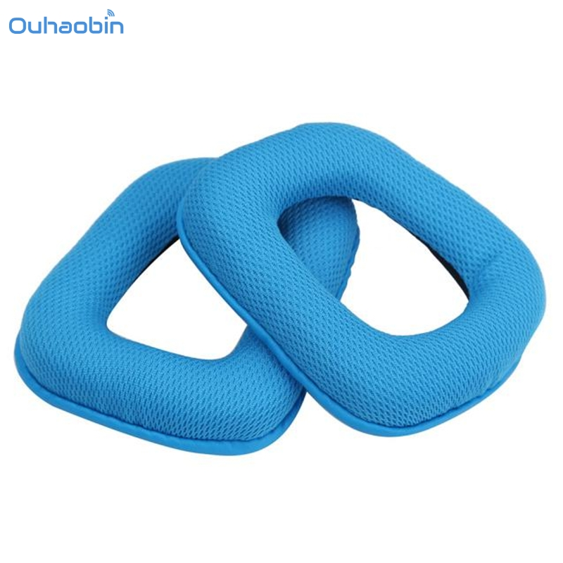 Ouhaobin Popular Replacement Ear Cushion Pads Ear Cups for Logitech G35 G930 G430 Headphone High Quality Blue EarPad Aug31 цена 2017