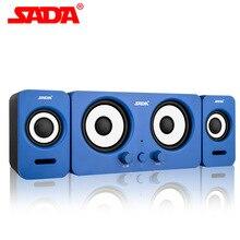 SADA D-220 Speakers for Notebook Desktop PC Mini Portable USB Speaker Loudspeaker Support AUX Input by USB Volume Control