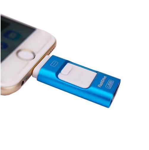 Hot Relâmpago OTG Flash Drive 16/32/64/128 gb Para o iOS 10 e USB para computador pc para tablet otg pen drive para iphone u disco