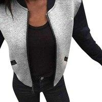 Women Casual Long Sleeve Cotton Short Jacket Slim Coats Outwear