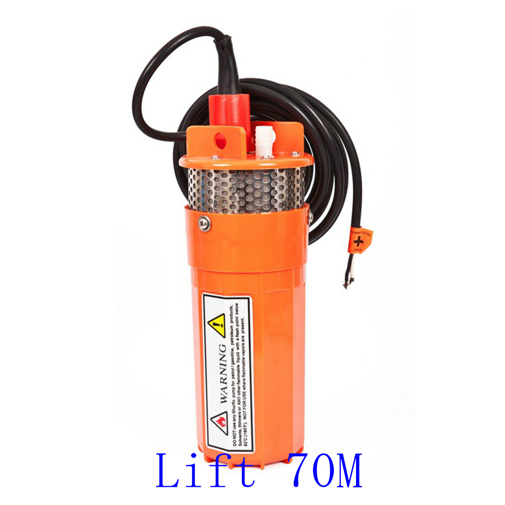 DC24V 12V 360LPH 70M Lift Small Submersible Power Solar Water Pump For Outdoor Garden Deep Well