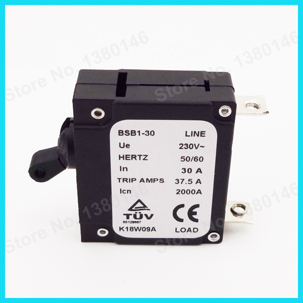 230V 30 AMP 30A Generator Circuit Breaker Hertz 50/60 37.5 Trip Amps ...