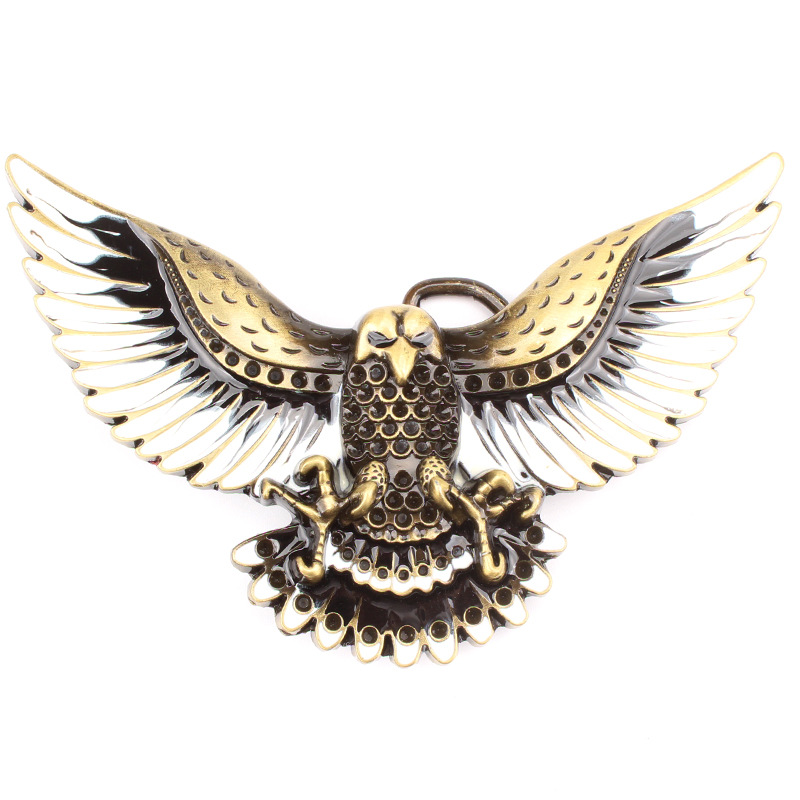 The Owl Belt Buckle Metal Personality Animal Spread Its Wings