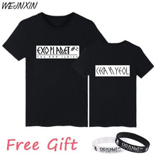 WEJNXIN EXO Kpop Fans Supportive T shirt For Women Men Cotton Short Sleeve Unisex Couple Clothing Letter Print T-shirt(China)