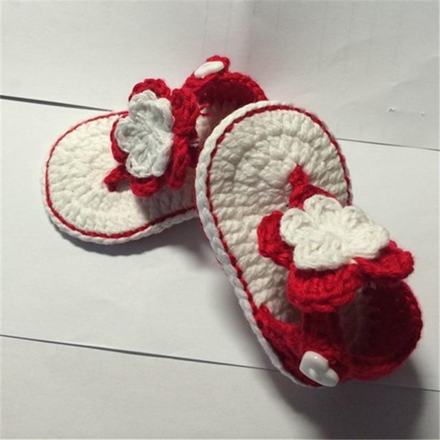 Qyflyxueslipperspink Aqua Green Crochet Baby Sandals Baby