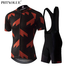 все цены на PHTXOLUE 2017 Cycling Clothing Summer Bicycle Ropa Ciclismo Hombre Mtb Bike Jerseys Maillot Ciclismo Cycling Jerseys Set Mens онлайн