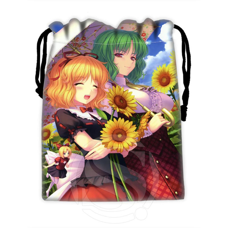 H-P826 Custom Anime Girl#51 Drawstring Bags For Mobile Phone Tablet PC Packaging Gift Bags18X22cm SQ00806#H0826
