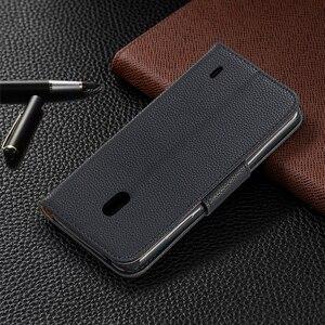 Image 3 - Portefeuille coque de téléphone pour Nokia 2.1 2.2 3.1 3.2 4.2 5.1 1 Plus Flip bracelet en cuir fentes pour cartes fermeture magnétique Stand Cover