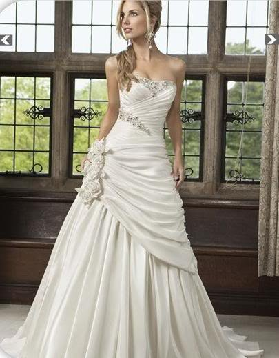 2012 bridesmaid dress in stock  wedding dress White/Ivory Wedding Dress Bridal Gown *Custom* Size:4 6 8 10 12 14 16 18 20 22