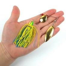5Pcs 5colors Metal Spiner Bait Fishing Lure Bass CrankBait Crank Bait Tackle Hook 16.3g 3D fish lures eyes PS  green paint