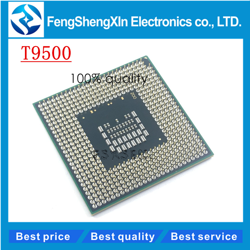 CPU Laptop Core 2 Duo T9500 CPU 6M Cache 2 6GHz 800 Dual Core Socket