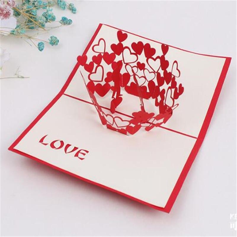 3D Grußkarten Danke Karte Handmade Pop Up Herzform Papier ...