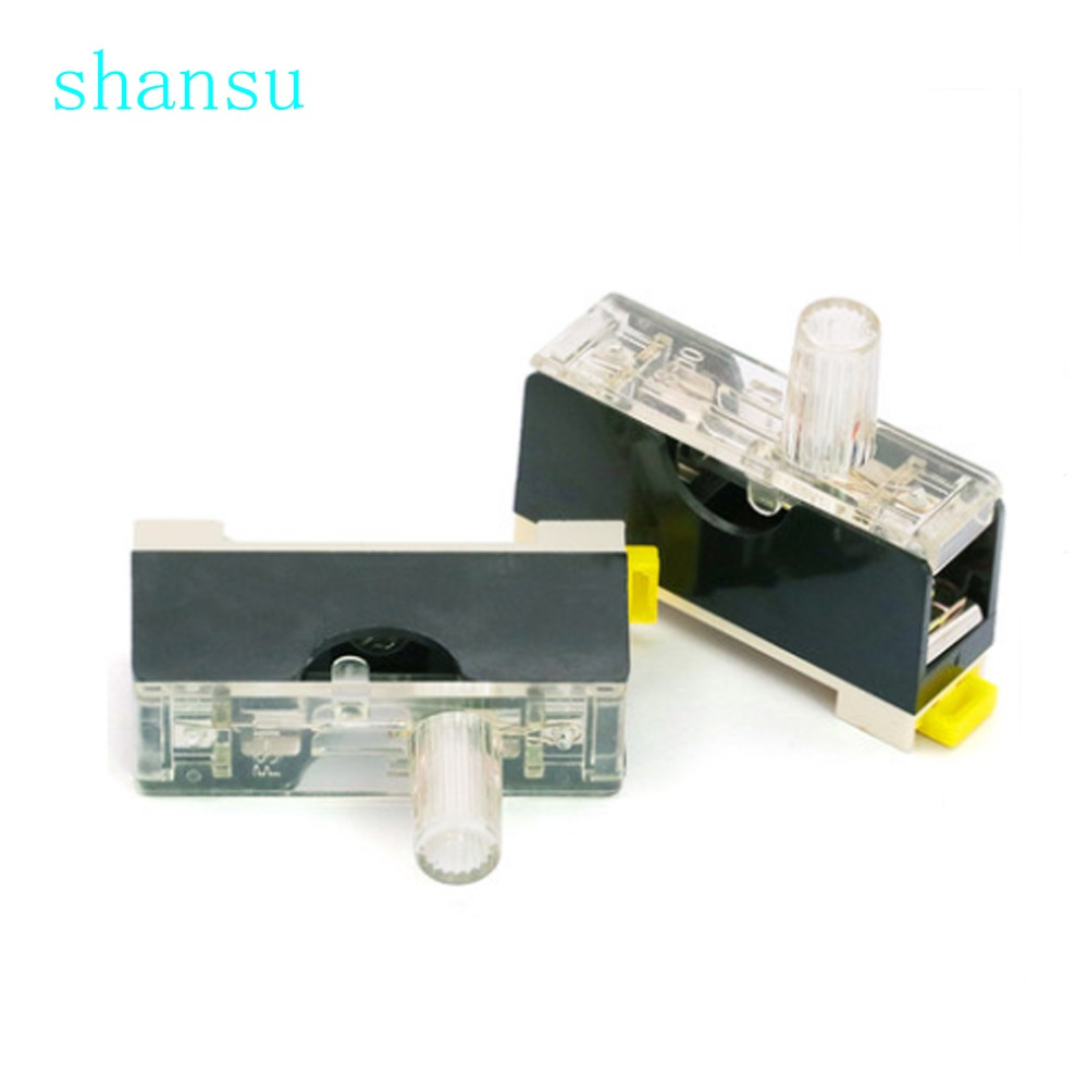 FS 101 Fuse holder with lamp 6*30mm Single link guide fuse box 6x30mm  FS101-in Fuses from Home Improvement on Aliexpress.com | Alibaba Group