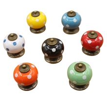 1Pc Vintage Furniture Handle Kitchen Pull Handle Ceramic Door Knobs Cabinet Knobs and Handles for Furniture Drawer Cupboard