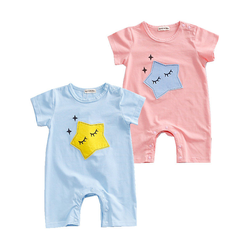 Summer Fashion Baby Boys Girls Clothes Newborn Baby Rompers Cotton One-pieces Star Printed Infant Baby Jumpsuit Unisex Clothing newborn baby rompers baby clothing 100% cotton infant jumpsuit ropa bebe long sleeve girl boys rompers costumes baby romper