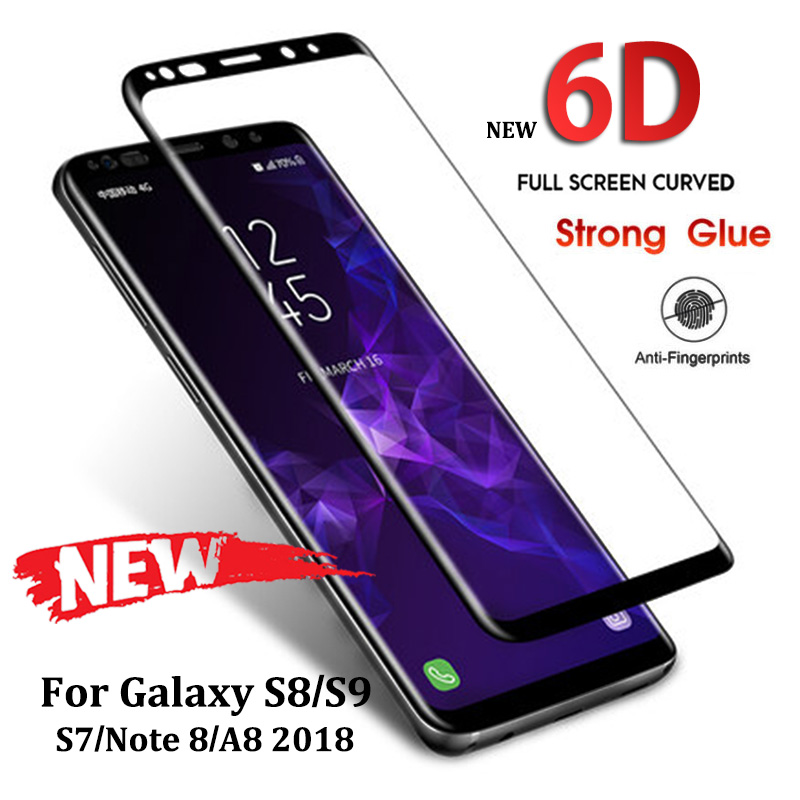 6D Full Curved Tempered Glass For Samsung Galaxy S8 S9 Plus Word eight 9 Display screen Protector For Samsung A8 A6 2018 S7 Protecting Movie