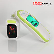Инфракрасный медицинский термометр ушной и лоб термометр/цифровой Пульсоксиметр(T1+ 85LED