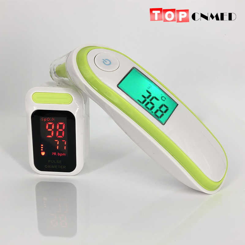 Infrared Thermometer Medical Ear & Forehead Thermometer / Digital Pulse Oximeter (T1 + 85LED)