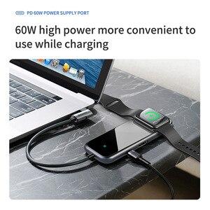 Image 4 - Baseus USB C Hub a HDMI RJ45 Multi USB 3.0 per Macbook Pro HUB Senza Fili del Caricatore hab Usb Splitter Tipo C Adattatore Per Aux Martinetti