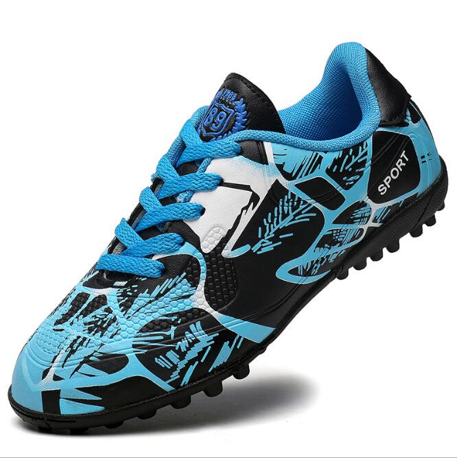 2017 spring new youth adult training shoes young boys and girls children broken nails tf soccer shoes sneakers ZQX10