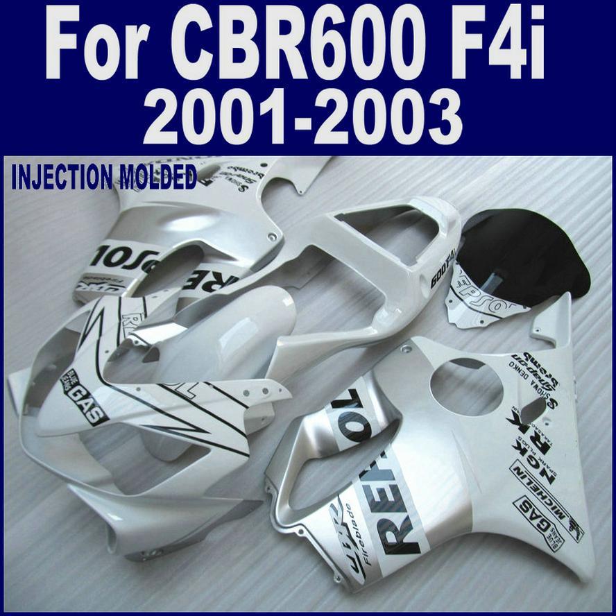 100% Injection molding Repsol for HONDA  fairing parts CBR 600 F4i 01 02 03 CBR600 F4i 2001 2002 2003 body repair parts SHJG bodywork fairing injection molding various color flame painted for honda cbr600 f4i usa cbr600f fs europe 2001 2002 2003 new