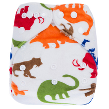 Reusable Waterproof 1pcs Cloth Diaper Nappy PUL Breathable Double Row Snaps Soft Minky Baby Cloth Diaper