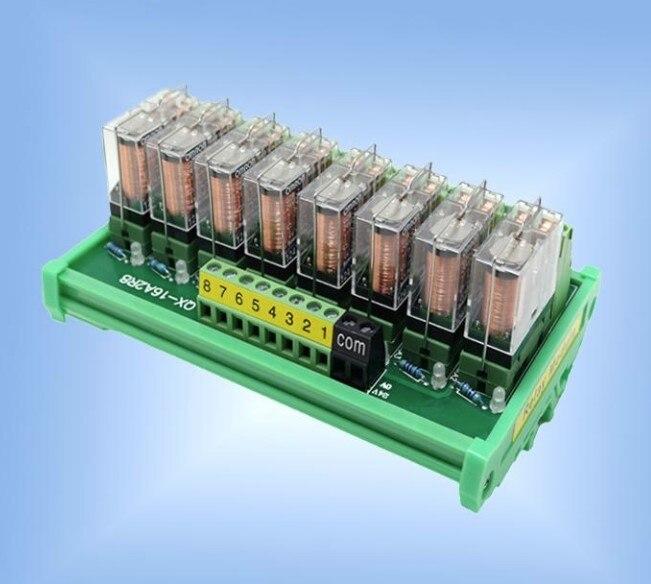 2~24 Channels Omron G2R-1-E Relay Module Amplifier Board Terminal Converter SPDT 16A PNP/NPN PLC Signal 24V Or 12V DIN Rail