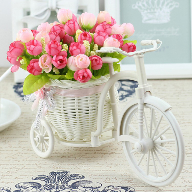 Vase flowers artificial silk flower basket set for home office vase flowers artificial silk flower basket set for home office decoration home flowers decoration for wedding mightylinksfo