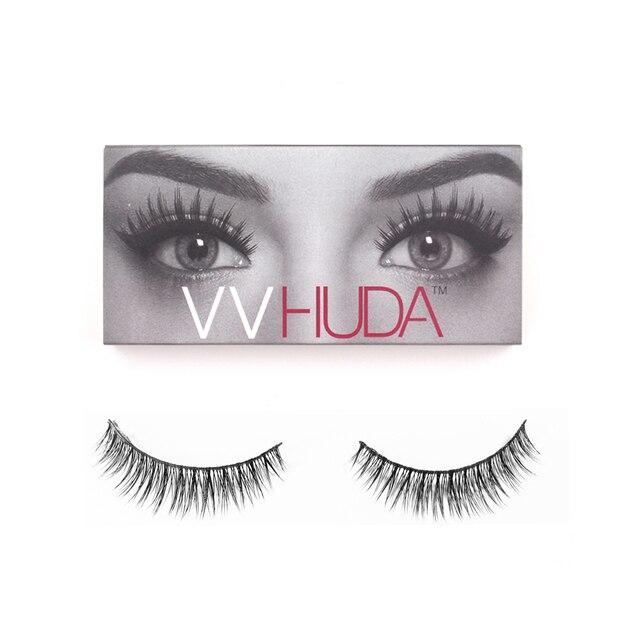Vvhuda 1 Pair False Eyelashes Handmade Natural Light Makeup Eyelash