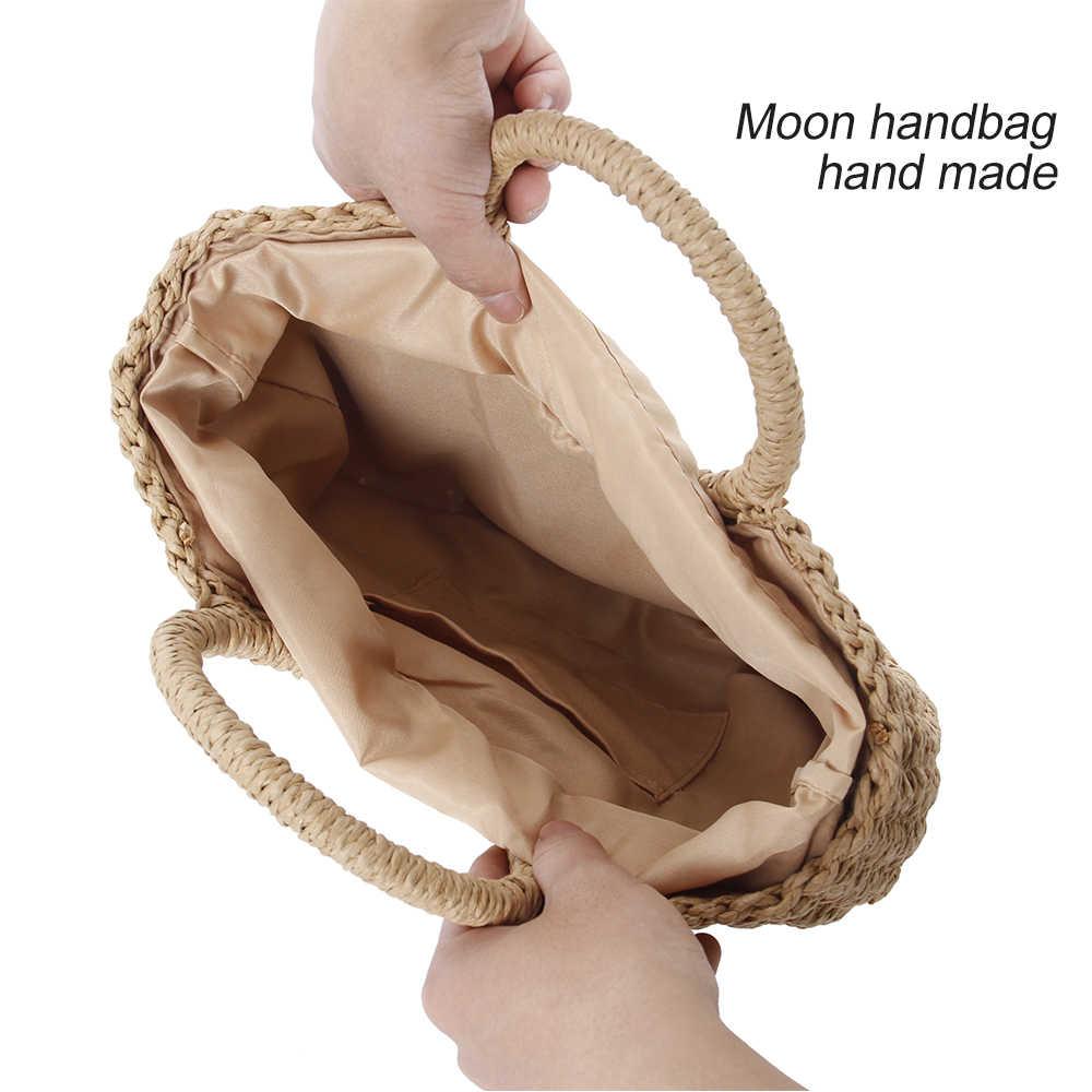 Sacos de palha para As Mulheres Verão 2019 Saco Handmade Saco Tecido Rattan Saco De Praia Boemia Bolsa de Bali bolsos verano 2019