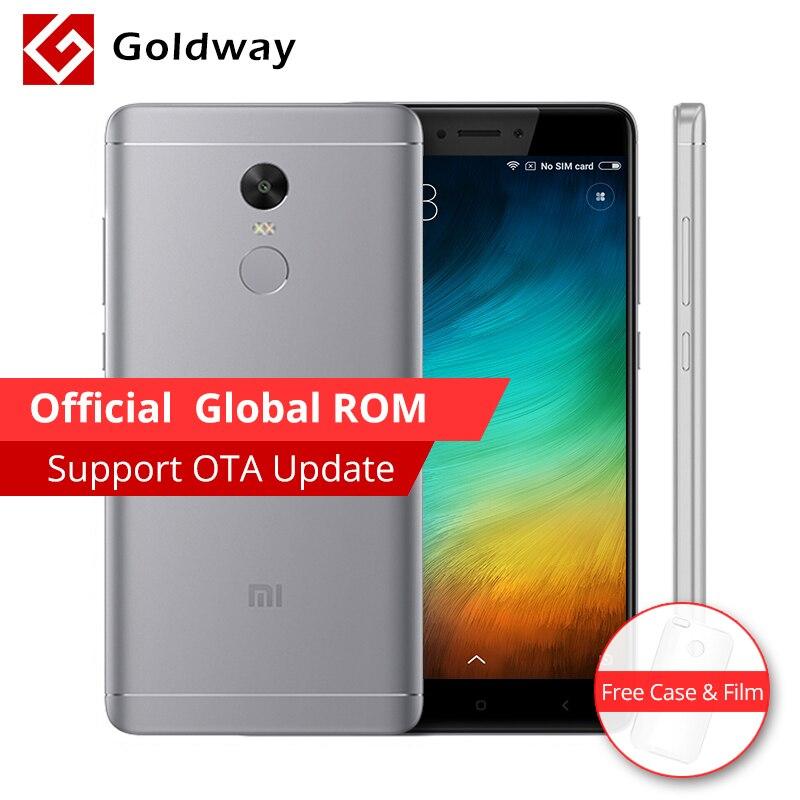 """Оригинальный Xiaomi Redmi Note 4x4 x мобильный телефон 3 ГБ Оперативная память 16 ГБ Встроенная память Snapdragon 625 Octa core отпечатков пальцев ID 5.5 """"FHD 13.0MP Камера"""