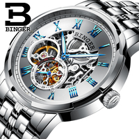 Classic Business Designer Skeleton Men Self Winding Mechanical Watches Roman Number Vintage Hollow Watch Full Steel Wrist watch
