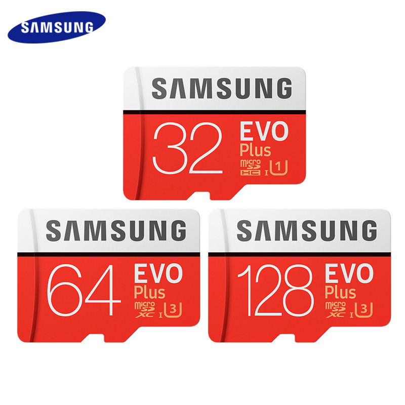 SAMSUNG Memory Card 64G 128G 256G SDHC EVO Plus MicroSD Micro SD C10 4K TF Trans Flash 32 GB Class 10 Phone Cards For Go Pro