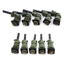 Askeri standart kablo konnektörleri MIL DTL 5015 Servo konektörü 14S 9 2 pin priz 3 pin 14S 7 14S 6 14S 5 14S 2
